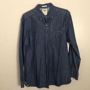 Vintage Levi's Dark Wash Denim Shirt XXL